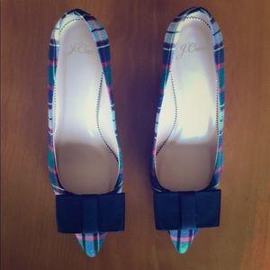 New in Box Jcrew Colette Tartan Heels 7.5